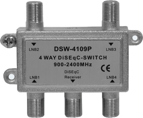 DSW41 TO 4 WAY DiSEqC SWITCH Space Television